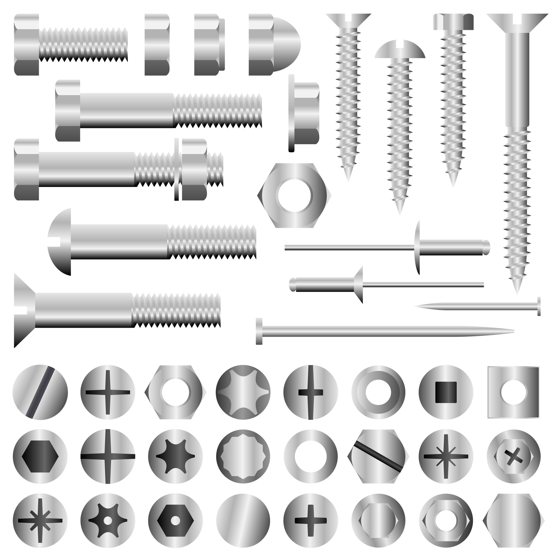 Fastener Products | Nuts & Bolts | Screws | Washers | Rivets | Cal